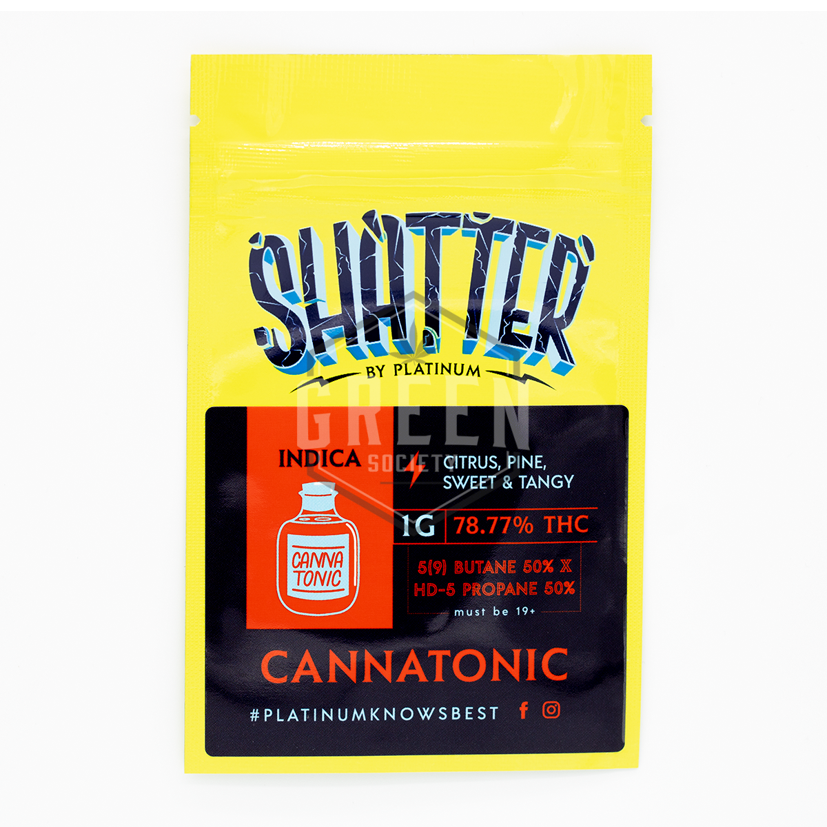 Cannatonic Shatter by Platinum by Green Society - Image © 2019 Green Society. All Rights Reserved.
