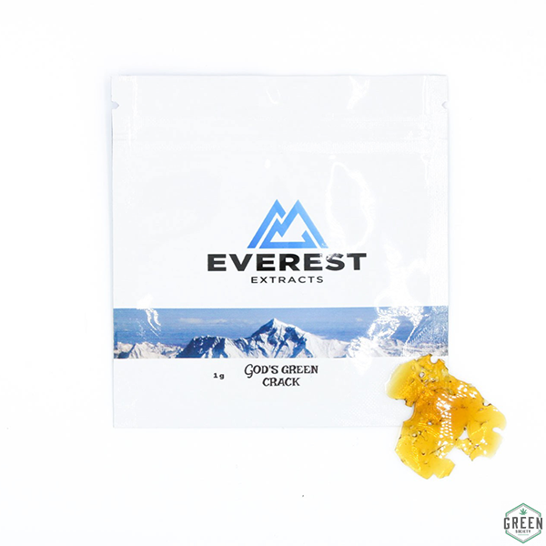 Gods Green Crack Shatter by Everest Extracts by Green Society - Image © 2018 Green Society. All Rights Reserved.