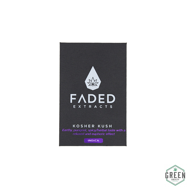 Kosher Kush Shatter by Faded Extracts by Green Society - Image © 2018 Green Society. All Rights Reserved.