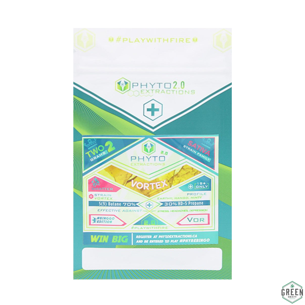 Vortex 2 Gram Shatter Pack by Phyto Extractions by Green Society - Image © 2018 Green Society. All Rights Reserved.