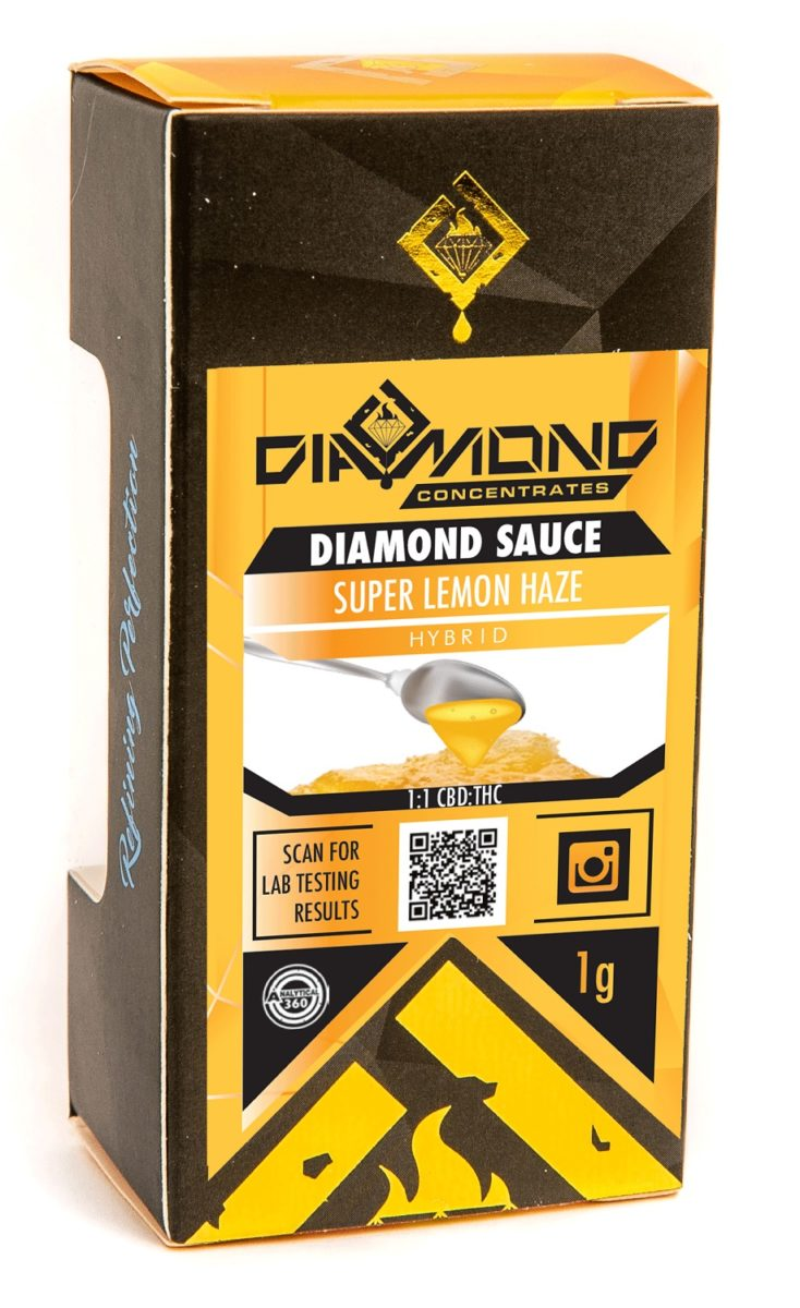 Super Lemon Haze Sauce by Diamond Concentrates by Green Society - Image © 2018 Green Society. All Rights Reserved.
