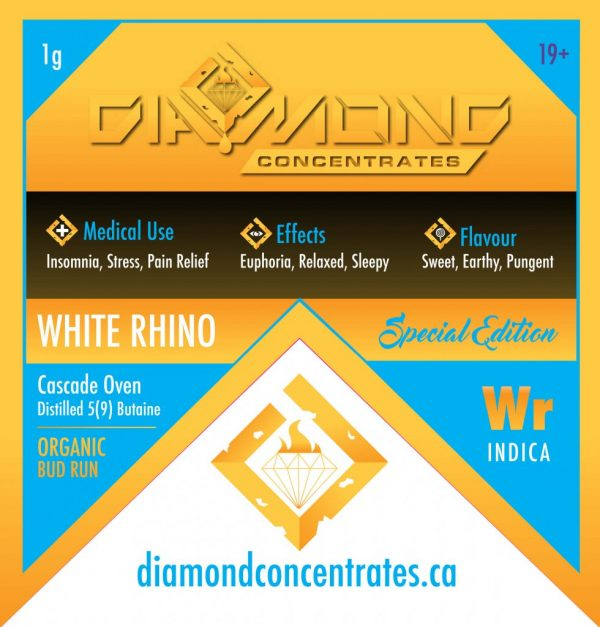 White Rhino (Diamond Concentrates) by Green Society - Image © 2018 Green Society. All Rights Reserved.