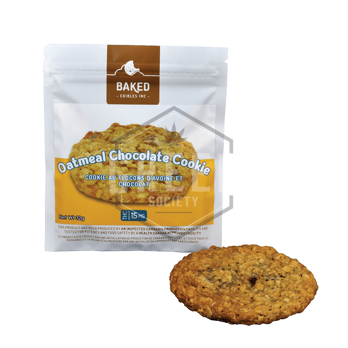 Oatmeal Chocolate Cookie by Baked Edibles by Green Society - Image © 2018 Green Society. All Rights Reserved.