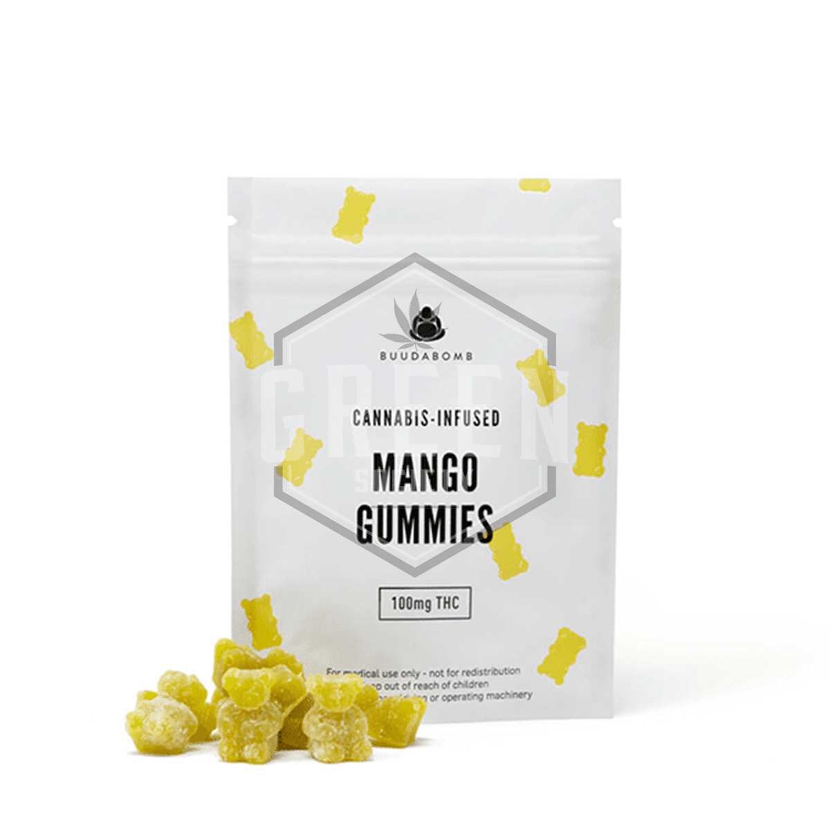 Mango Gummies by Buuda Bomb by Green Society - Image © 2018 Green Society. All Rights Reserved.