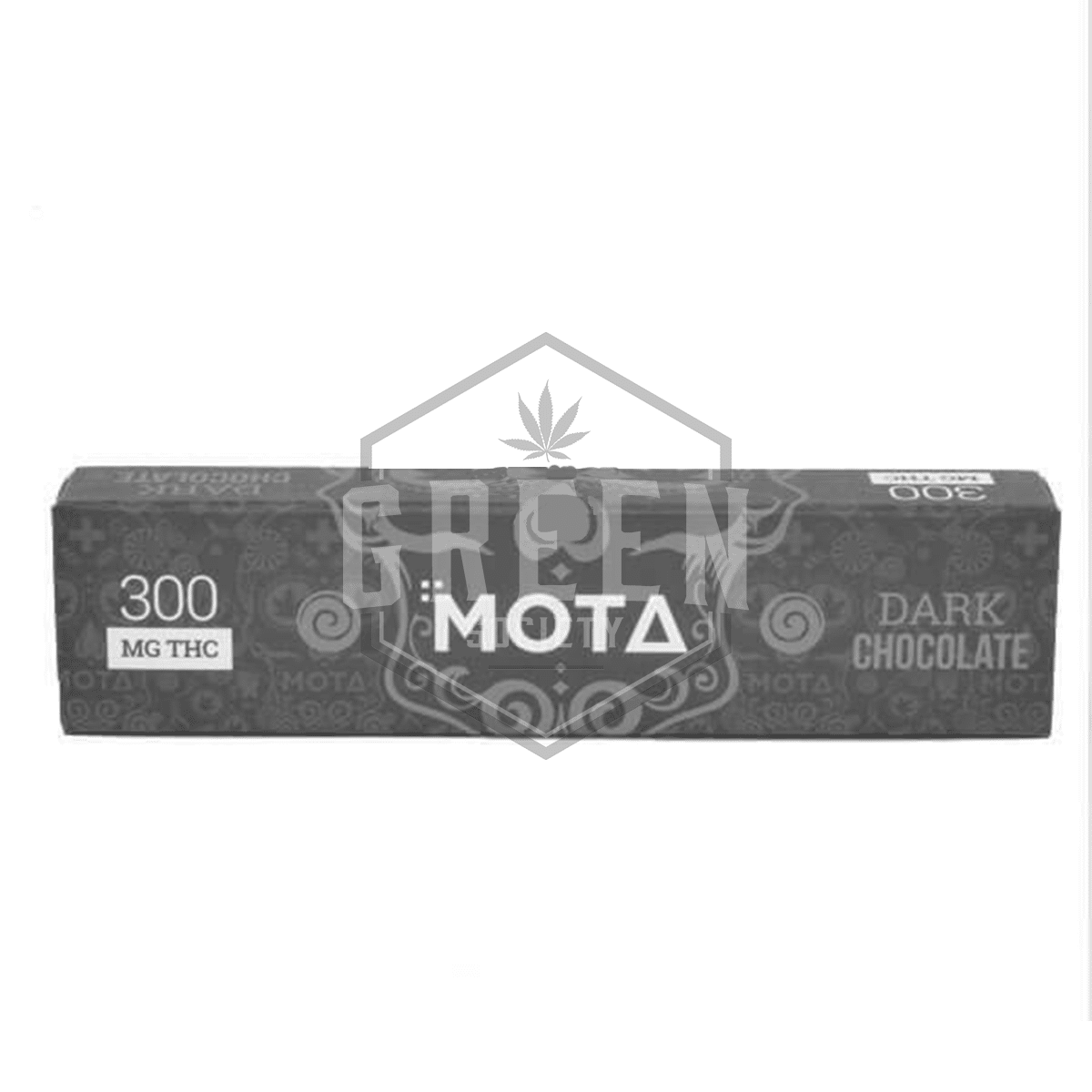 Dark Chocolate Bar (THC 300mg) by MOTA Cannabis by Green Society - Image © 2018 Green Society. All Rights Reserved.