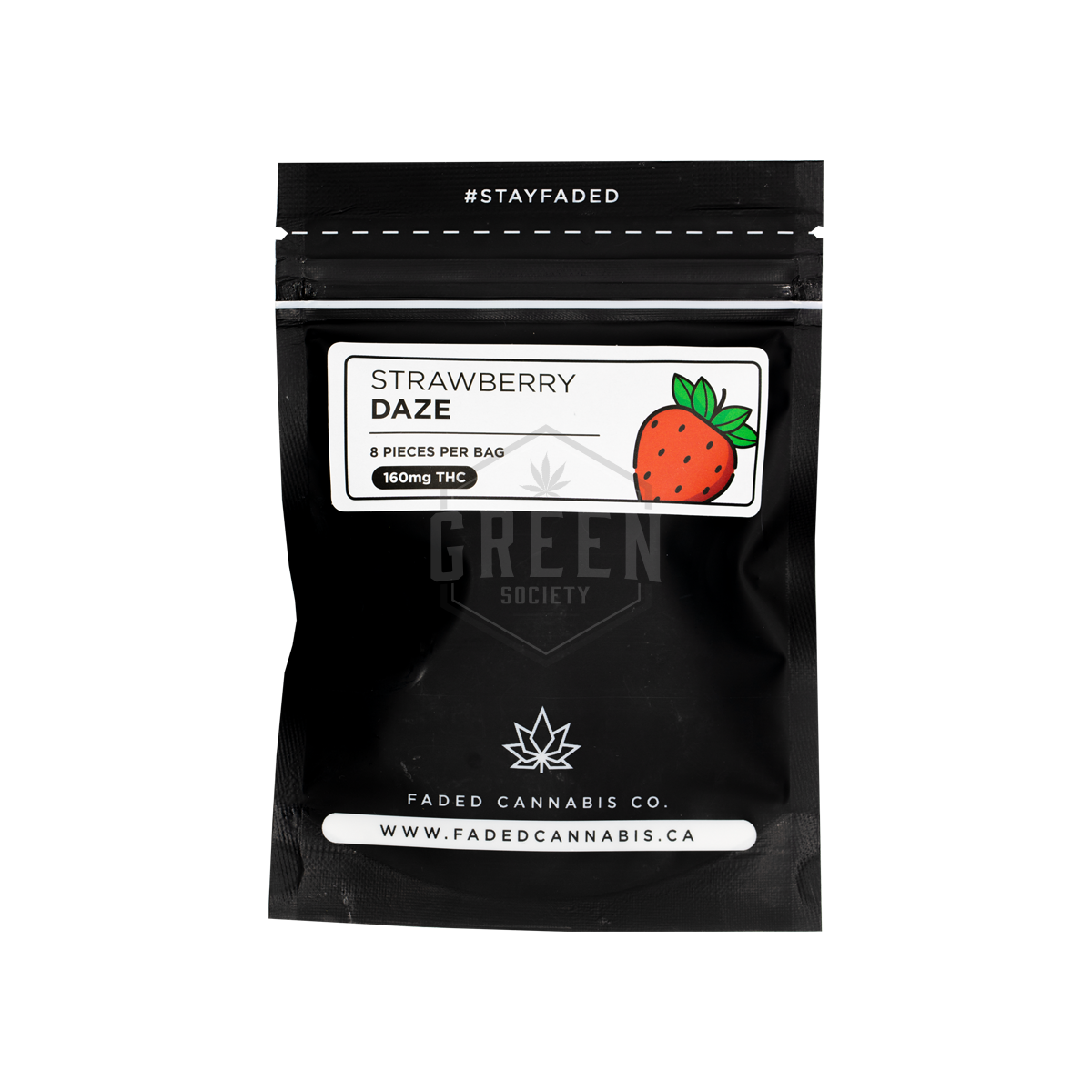 Faded Cannabis Co. Strawberry Daze Gummies by Green Society - Image © 2018 Green Society. All Rights Reserved.