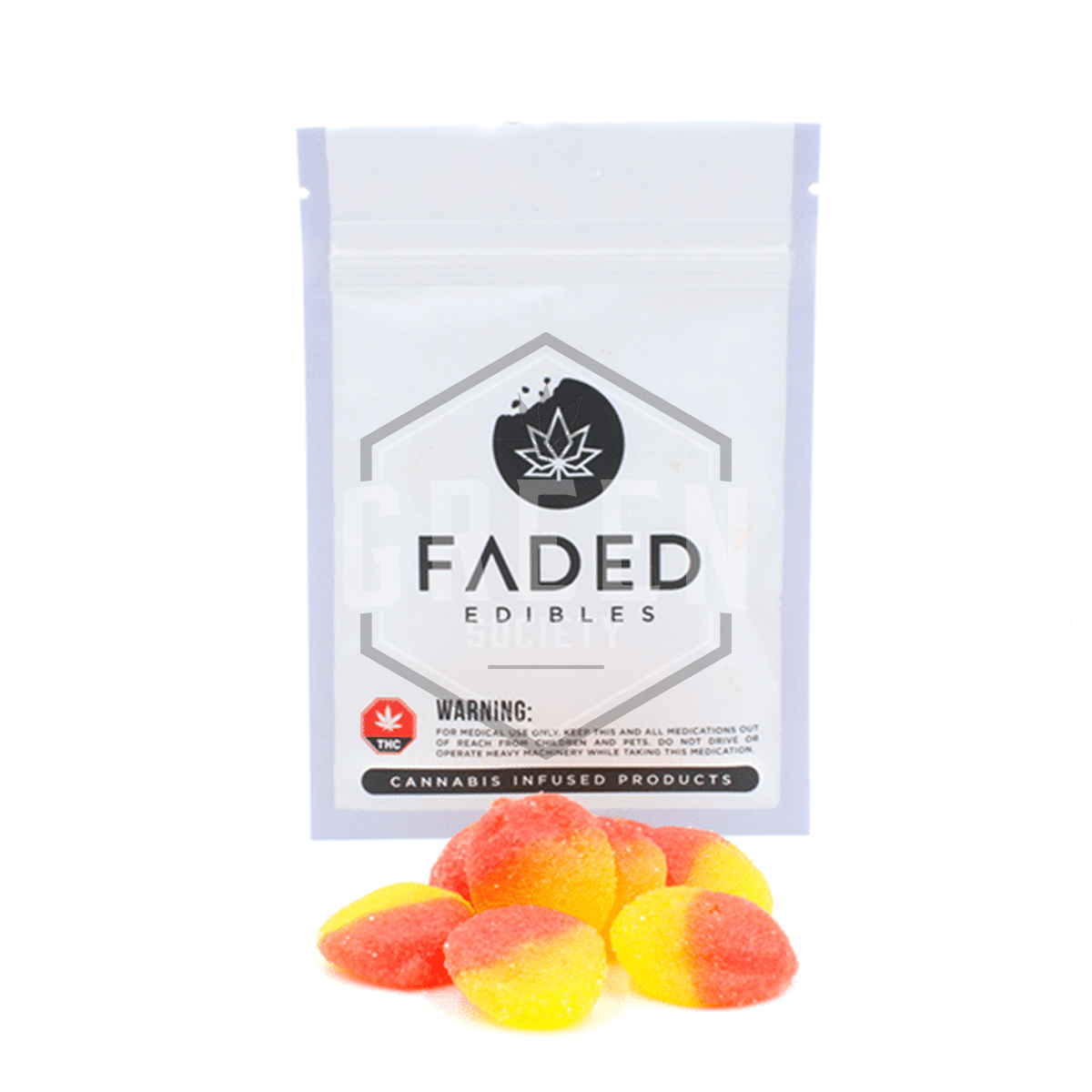 Peach Drops by Faded Cannabis Co. by Green Society - Image © 2018 Green Society. All Rights Reserved.