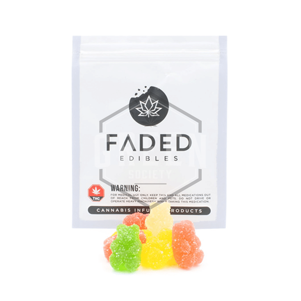 Sour Gummy Bears by Faded Cannabis Co. by Green Society - Image © 2018 Green Society. All Rights Reserved.