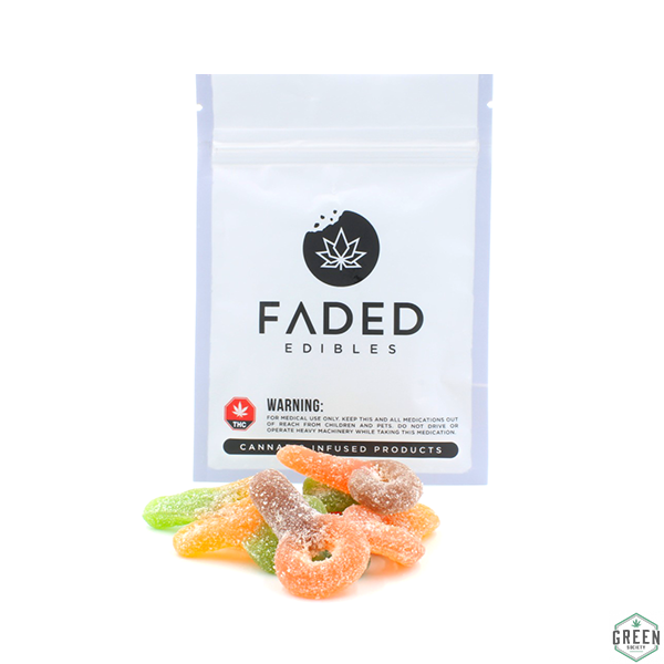 Faded Edibles Sour Suckers by Green Society - Image © 2018 Green Society. All Rights Reserved.