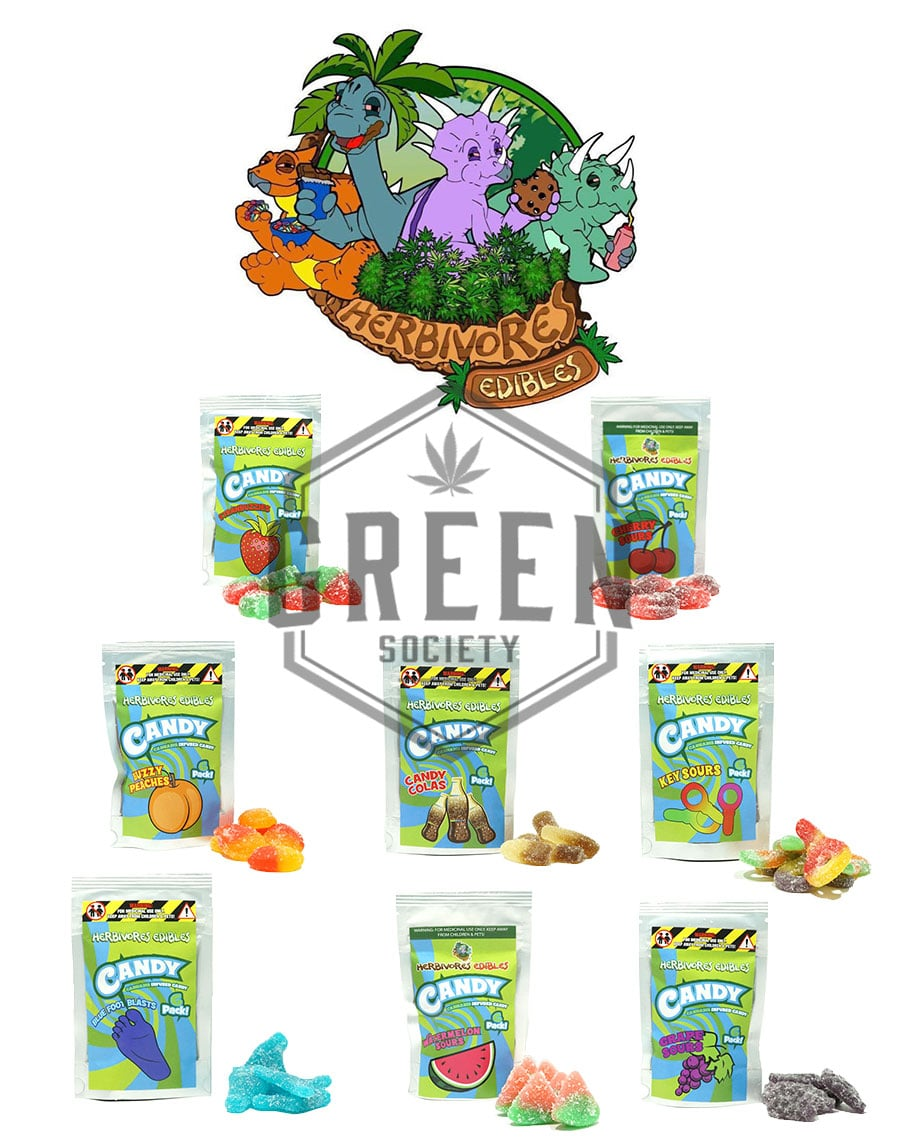 Gummy Candies by Herbivores Edibles by Green Society - Image © 2018 Green Society. All Rights Reserved.