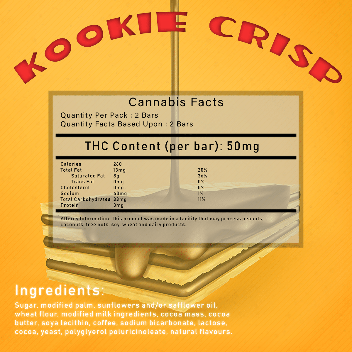 Kookie Crisp by Herbivores Edibles by Green Society - Image © 2018 Green Society. All Rights Reserved.