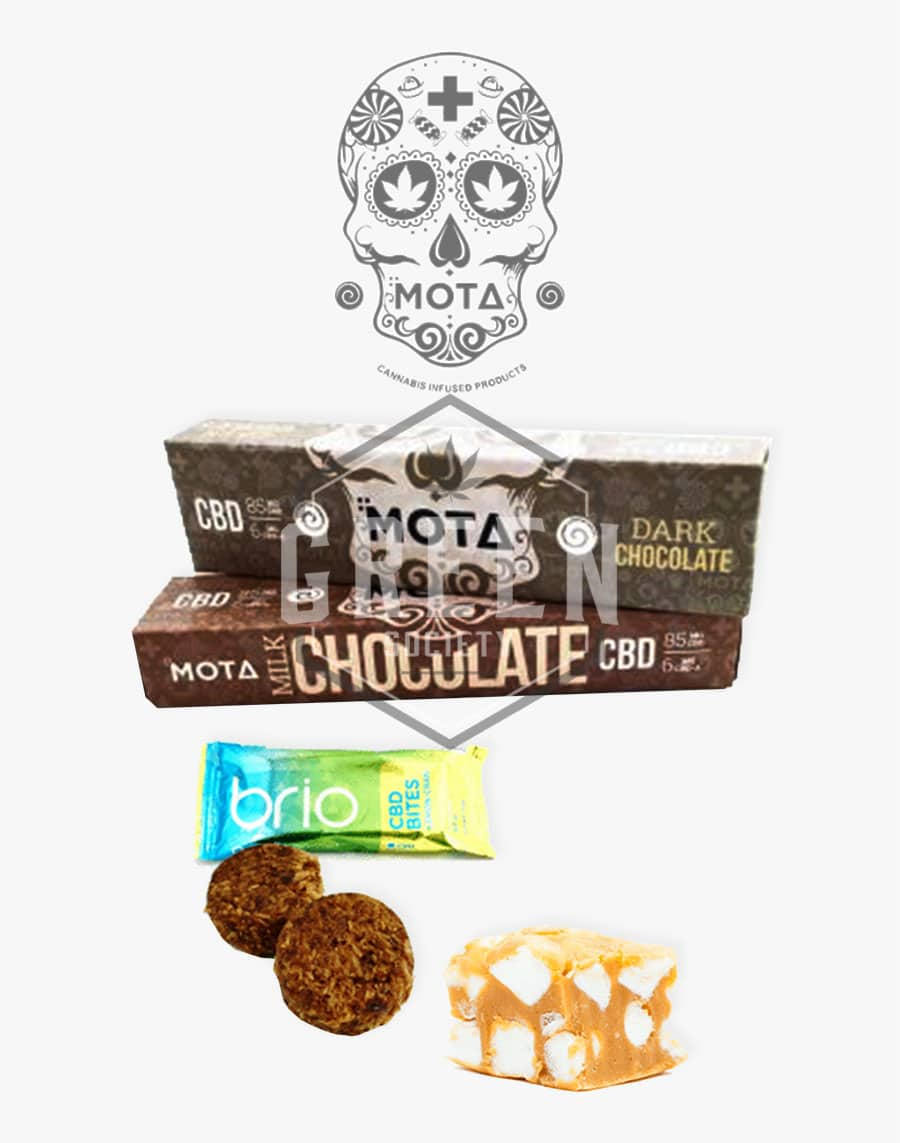 Chocolates by MOTA Cannabis by Green Society - Image © 2018 Green Society. All Rights Reserved.