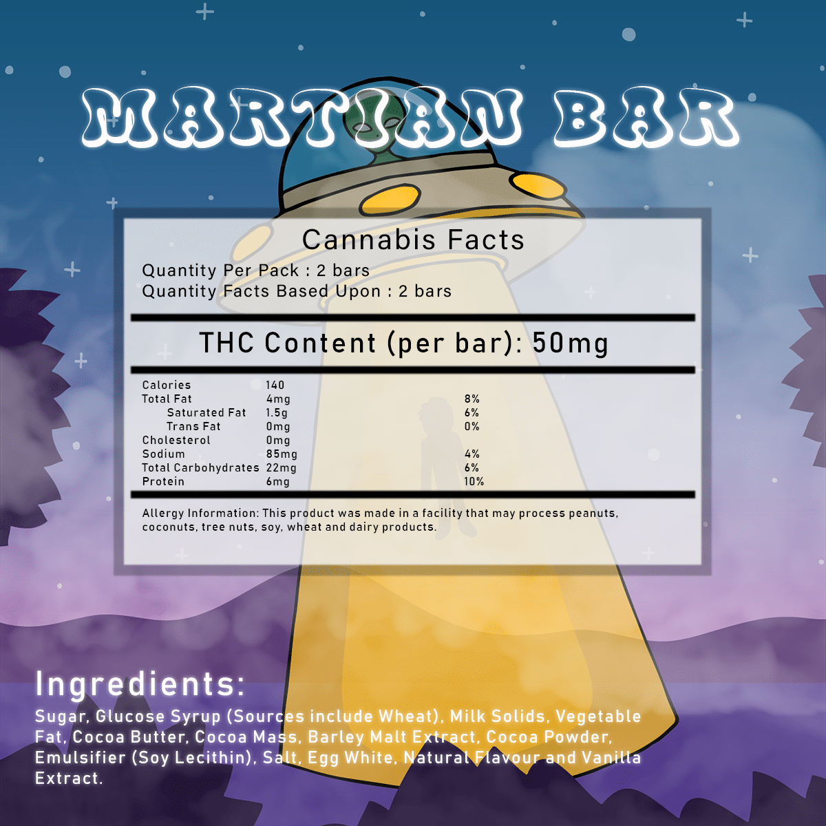 Martian Bar by Herbivores Edibles by Green Society - Image © 2018 Green Society. All Rights Reserved.