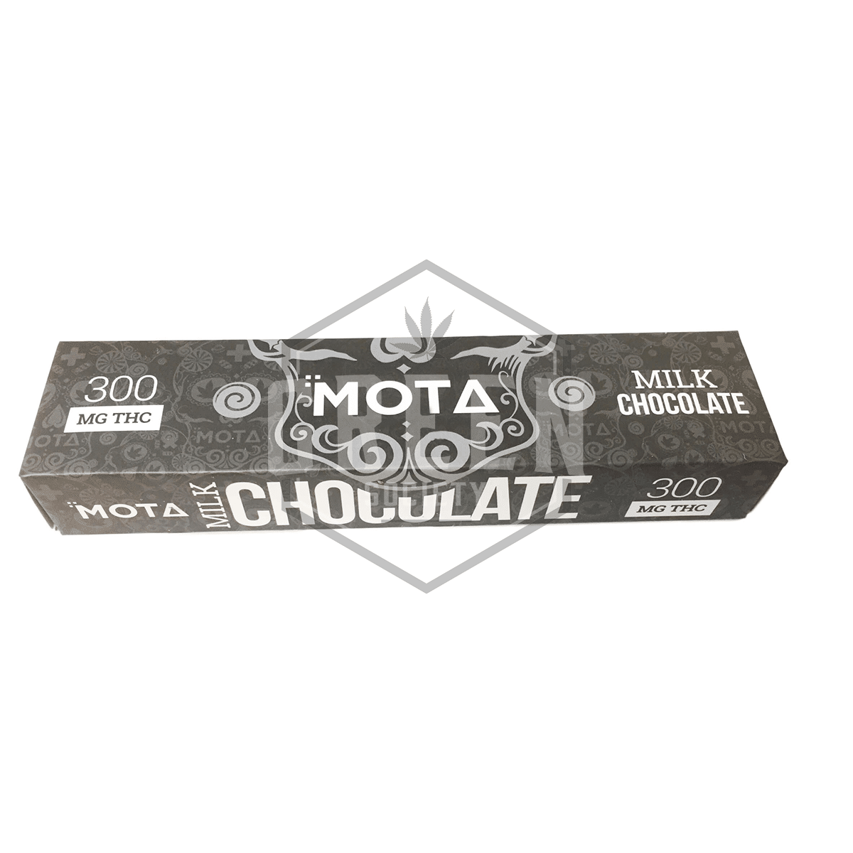 Milk Chocolate Bar (THC 300mg) by MOTA Cannabis by Green Society - Image © 2018 Green Society. All Rights Reserved.