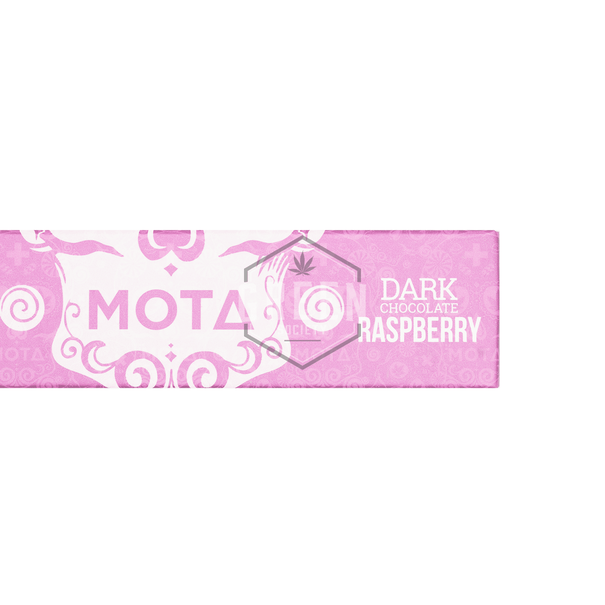 Raspberry Dark Chocolate Bar by MOTA Cannabis by Green Society - Image © 2018 Green Society. All Rights Reserved.