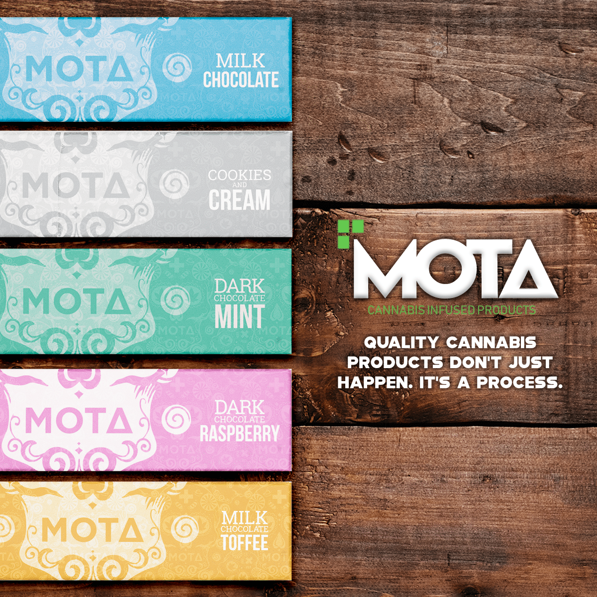 Chocolate Bars by Mota Cannabis by Green Society - Image © 2018 Green Society. All Rights Reserved.