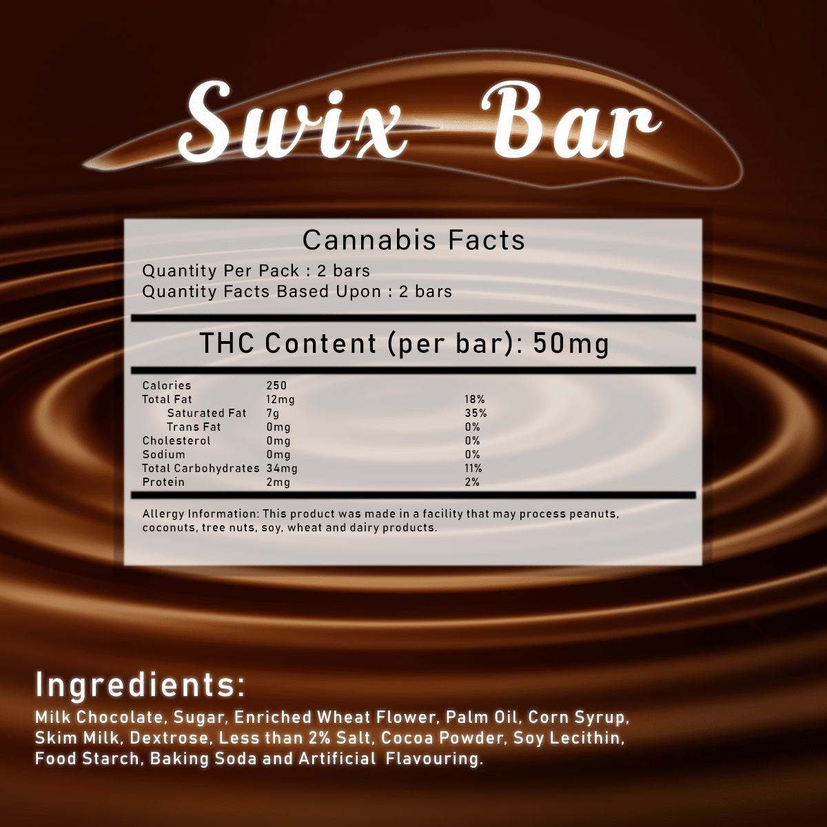 Swix Bar by Herbivores Edibles by Green Society - Image © 2018 Green Society. All Rights Reserved.