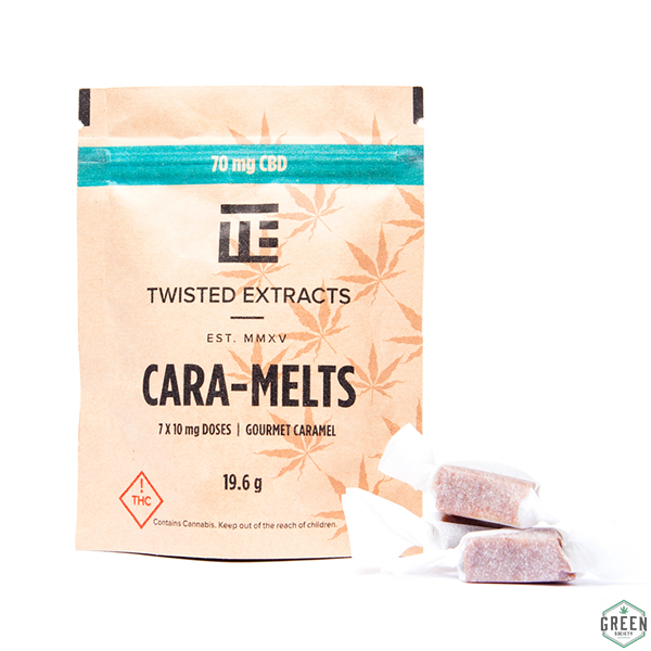 Twisted Extracts CBD Cara-Melts by Green Society - Image © 2018 Green Society. All Rights Reserved.