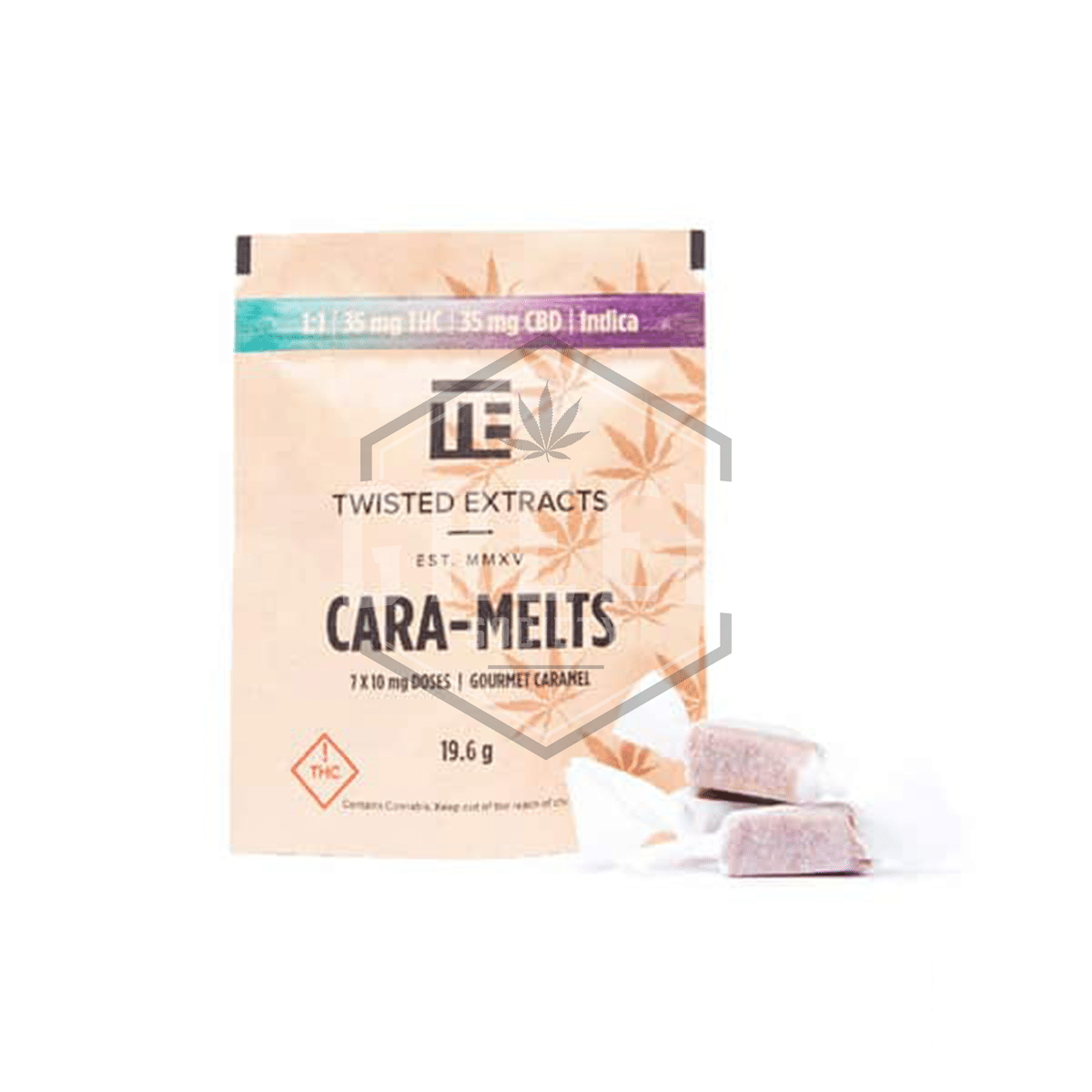 Indica 1:1 Cara-Melts by Twisted Extracts by Green Society - Image © 2019 Green Society. All Rights Reserved.