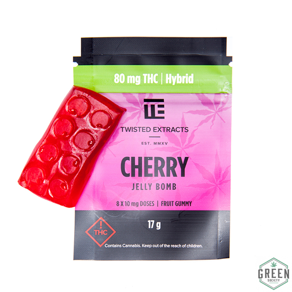 Twisted Extracts Cherry Jelly Bomb by Green Society - Image © 2018 Green Society. All Rights Reserved.