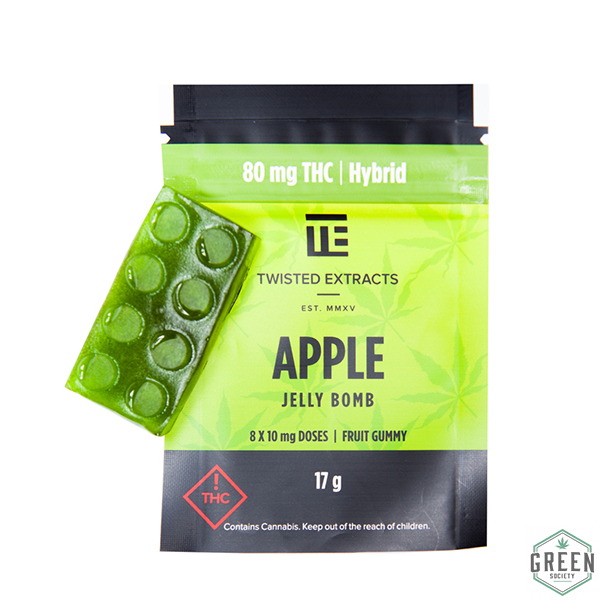 Twisted Extracts Green Apple Jelly Bomb (Hybrid) by Green Society - Image © 2018 Green Society. All Rights Reserved.