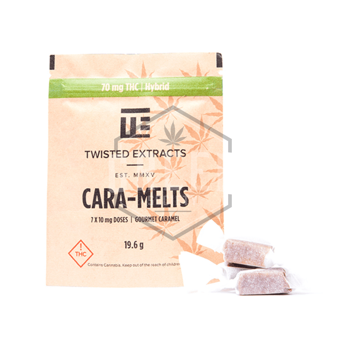 THC Hybrid Cara-Melts by Twisted Extracts by Green Society - Image © 2018 Green Society. All Rights Reserved.