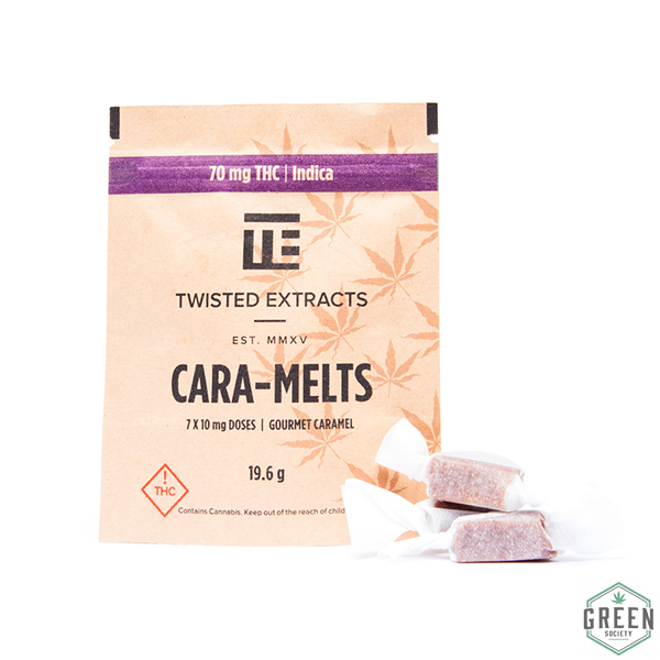 Twisted Extracts Indica Cara-Melts by Green Society - Image © 2018 Green Society. All Rights Reserved.