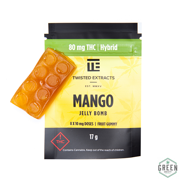 Twisted Extracts Mango Jelly Bomb (Hybrid) by Green Society - Image © 2018 Green Society. All Rights Reserved.