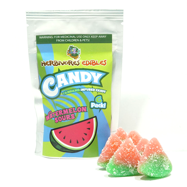 Herbivores Edibles Vegan Watermelon Sours by Green Society - Image © 2018 Green Society. All Rights Reserved.