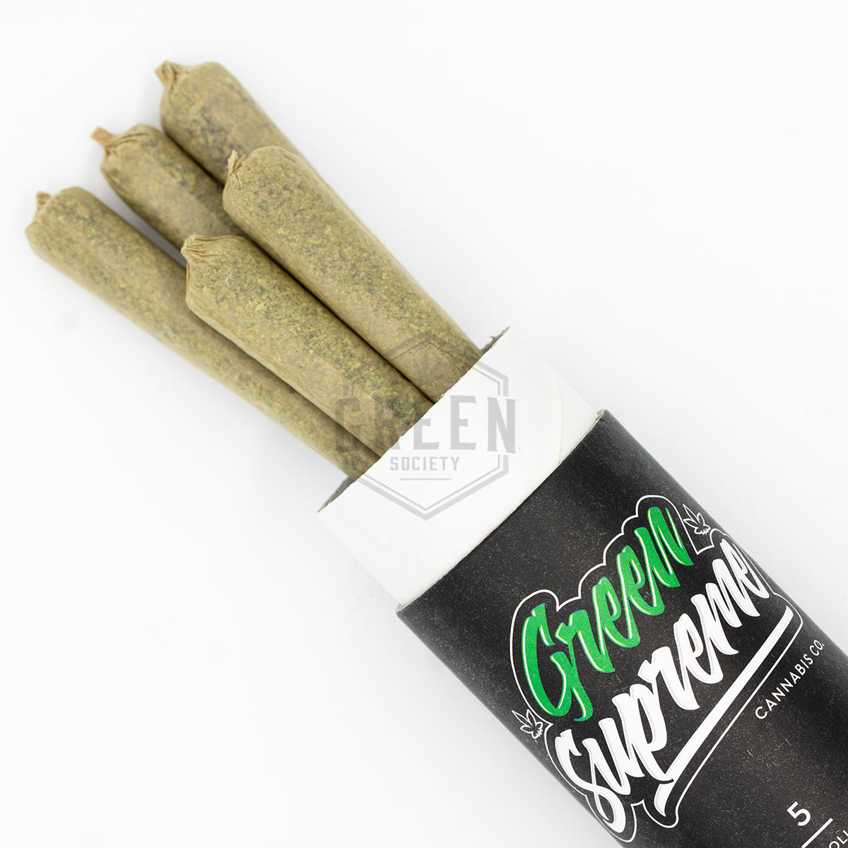 Green Supreme Premium Pre-Rolled Joints by Green Society - Image © 2018 Green Society. All Rights Reserved.