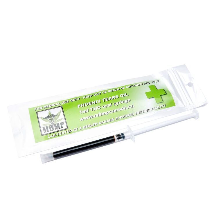 RSO Phoenix Tears Oil (510mg) 1ml Oral Syringe by Herb Store BC - Image © 2020 Herb Store BC. All Rights Reserved.