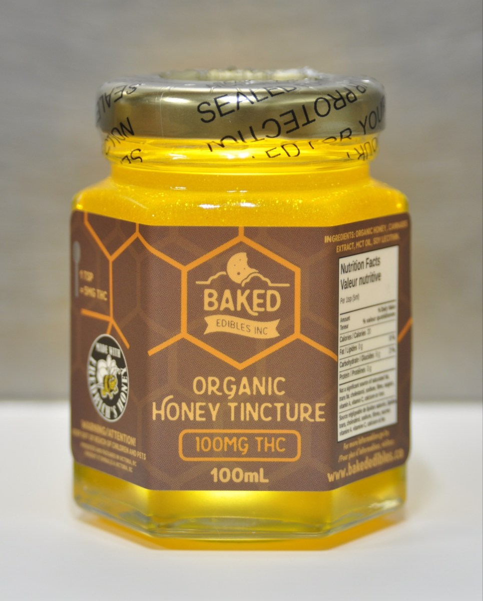 Organic Honey Tincture (100mg THC per jar) 5mg THC per teaspoon by Herb Store BC - Image © 2018 Herb Store BC. All Rights Reserved.