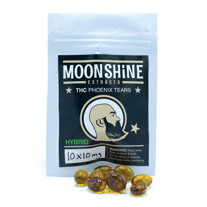 Moonshine Extracts THC Phoenix Tears Capsules by High Grade Aid - Image © 2018 High Grade Aid. All Rights Reserved.