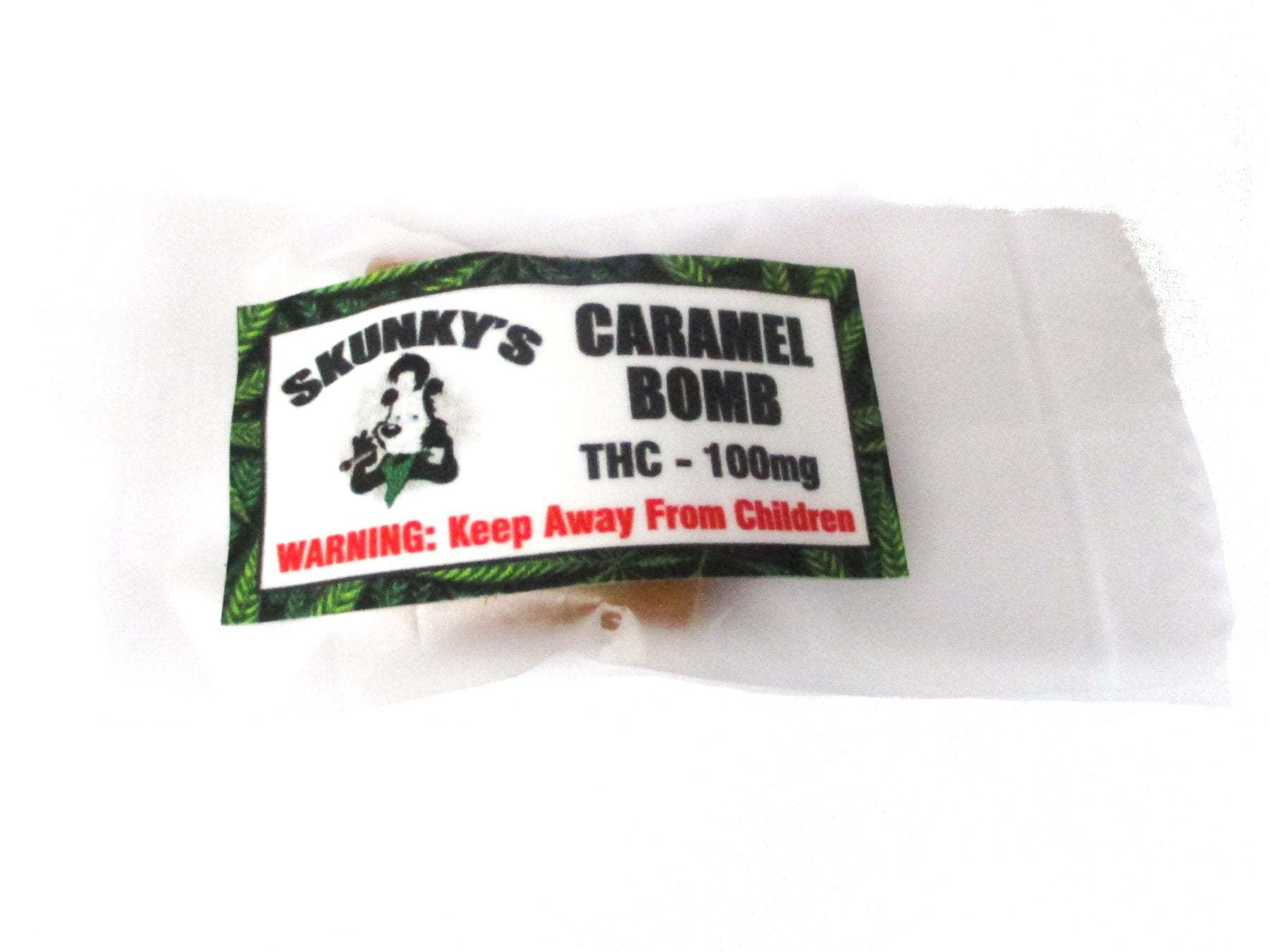 Skunkys Caramel Bomb (100mg of THC) by Kana Post - Image © 2020 Kana Post. All Rights Reserved.