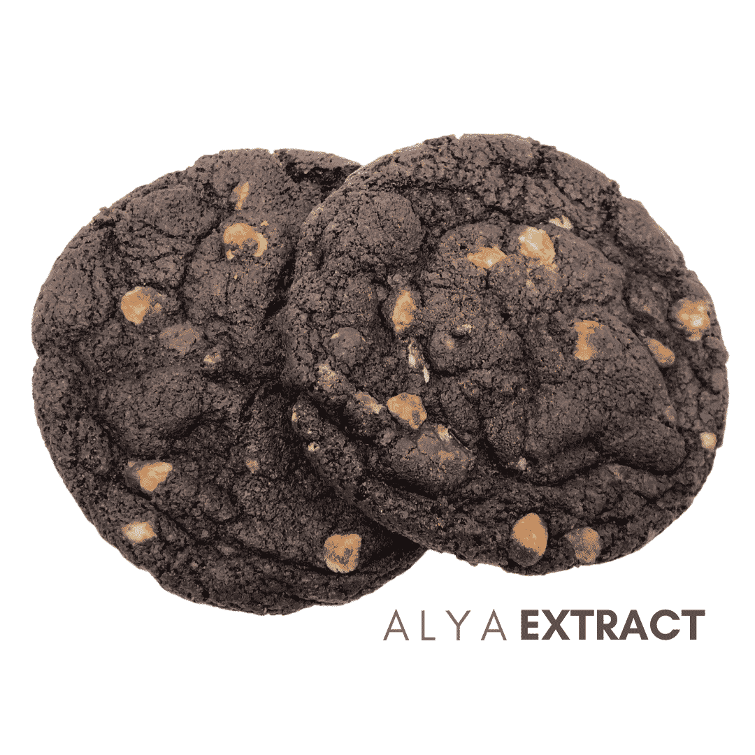 Alya Extract Triple Chocolate Cookie (400mg THC) by Kana Post - Image © 2021 Kana Post. All Rights Reserved.
