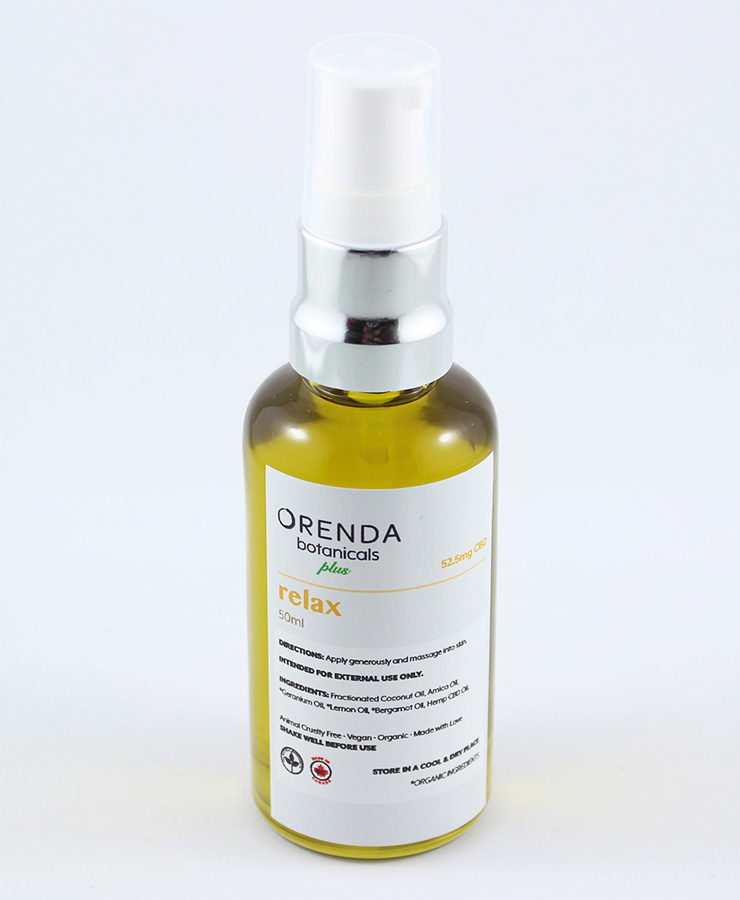 Orenda Botanical Relax Massage Oil by MJN Express - Image © 2018 MJN Express. All Rights Reserved.