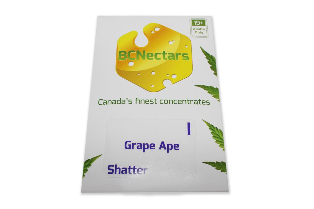 BC Nectar Grape Ape Shatter by The Chrono - Image © 2018 The Chrono. All Rights Reserved.