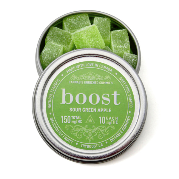 Boost Gummies 150mg THC (15x10mg) by The Chrono - Image © 2020 The Chrono. All Rights Reserved.
