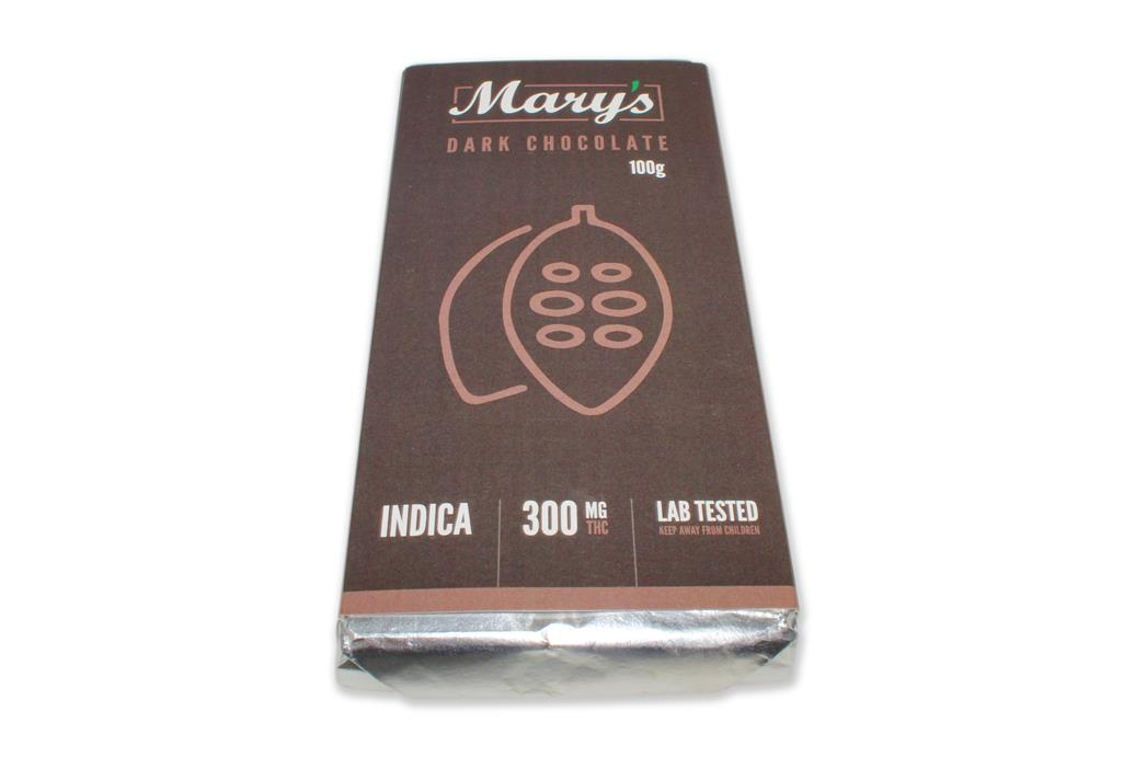 Marys: Dark Chocolate Bar 300mg THC Indica by The Chrono - Image © 2018 The Chrono. All Rights Reserved.
