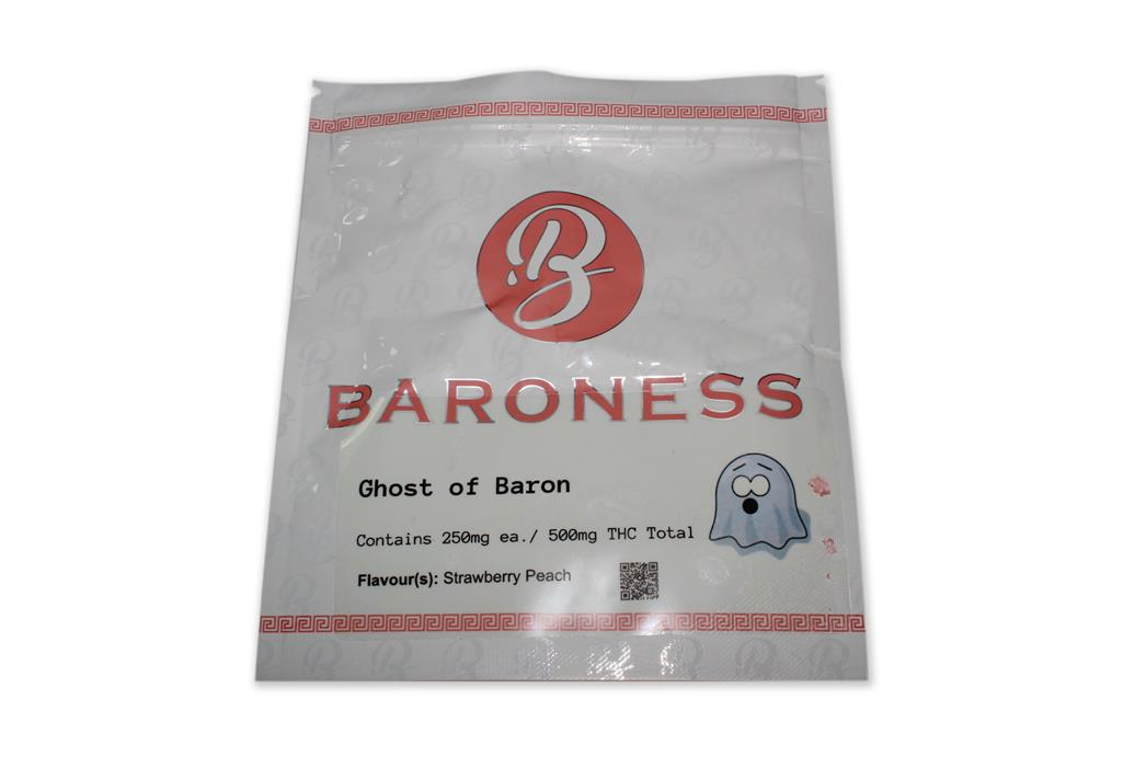 Baroness Ghost of Baron 2x250mg Gummies Strawberry Peach by The Chrono - Image © 2018 The Chrono. All Rights Reserved.