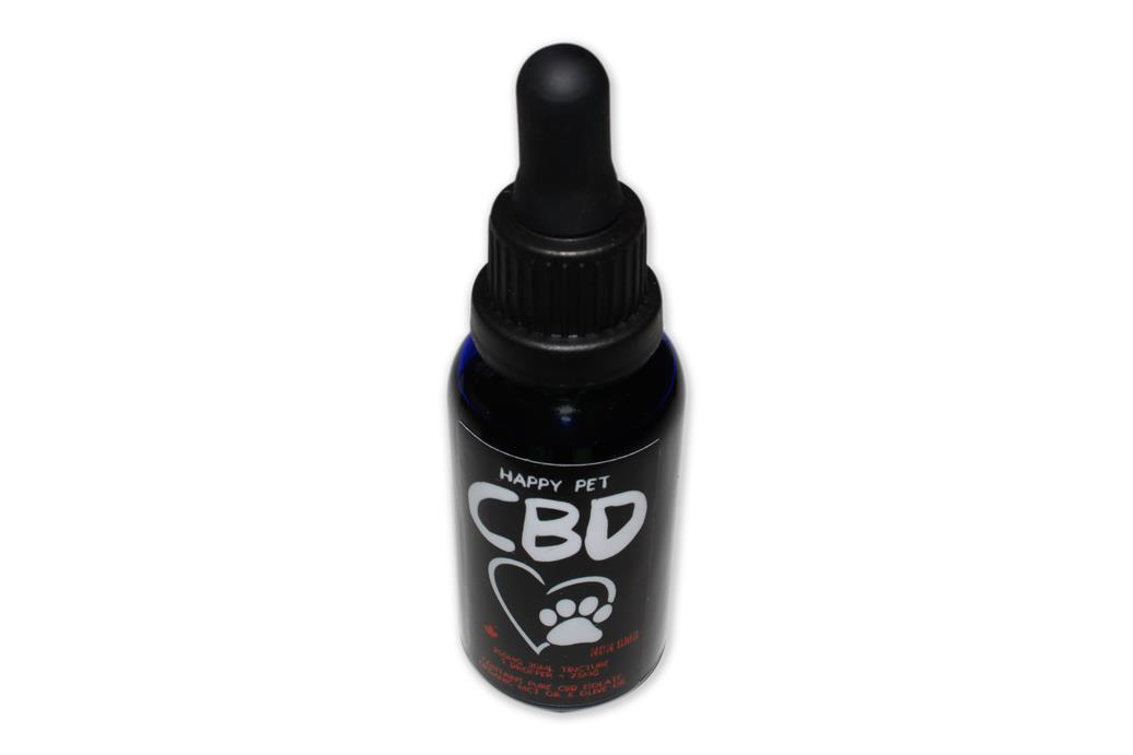 Happy Pet CBD Tincture 250mg 30mL by The Chrono - Image © 2018 The Chrono. All Rights Reserved.