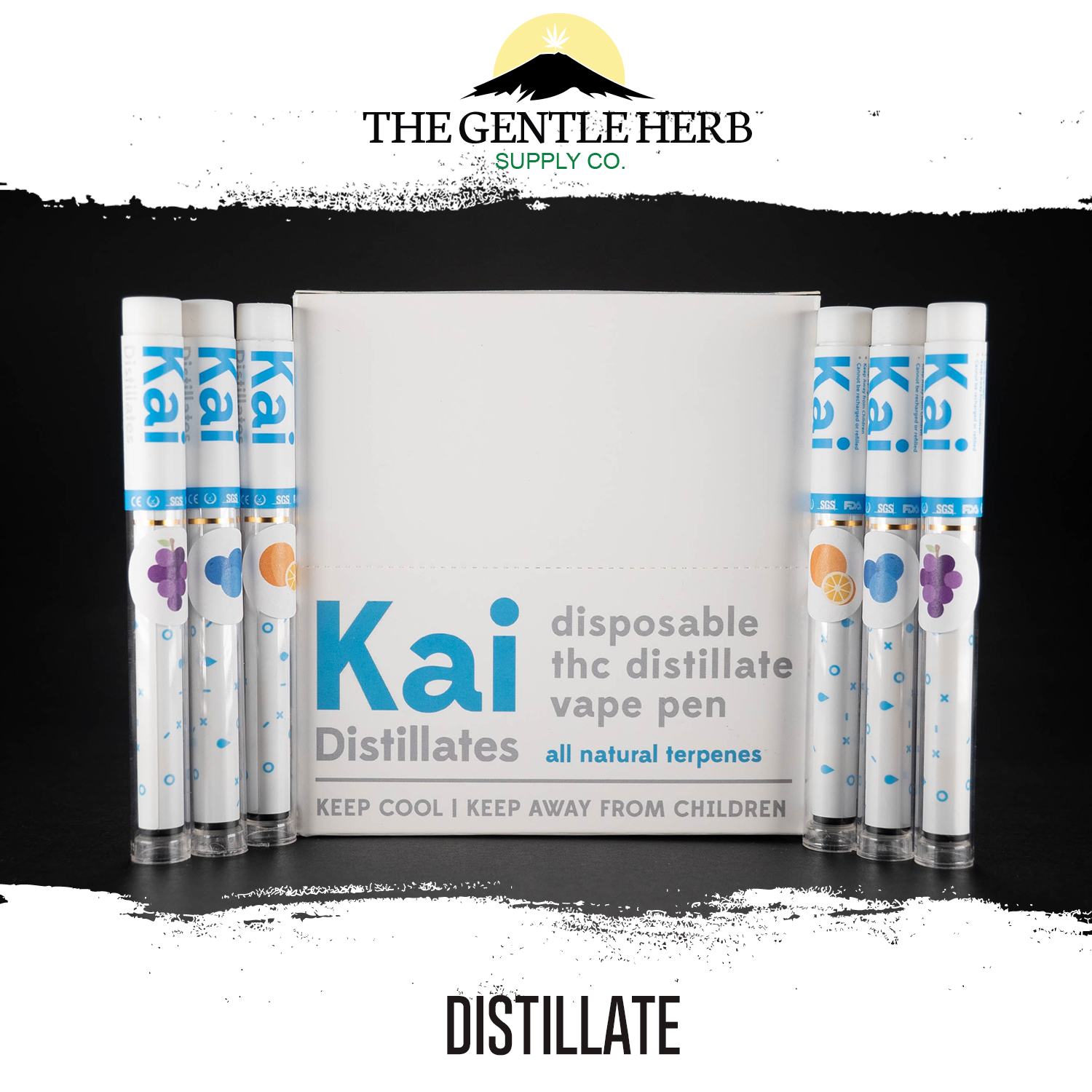 Kai 250mg Distillate Pens by The Gentle Herb - Image © 2018 The Gentle Herb. All Rights Reserved.