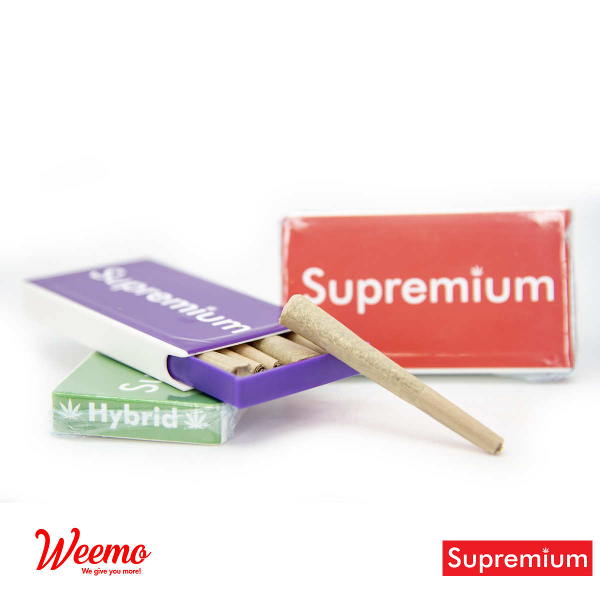 Supremium Sativa Pre-Rolls by Weemo - Image © 2020 Weemo. All Rights Reserved.