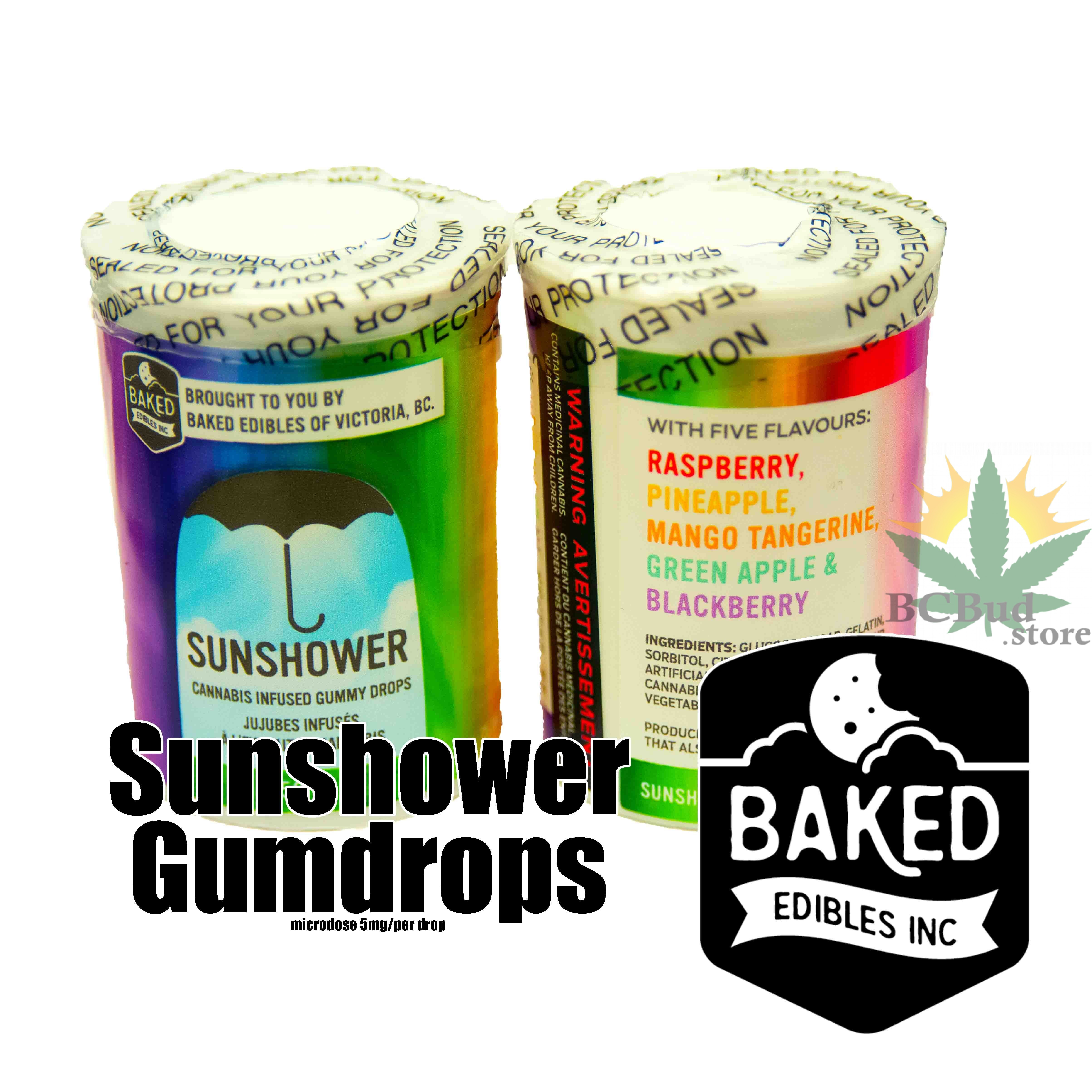 Sunshower Gumdrops Baked Edibles Inc. by BC Bud Store - Image © 2018 BC Bud Store. All Rights Reserved.